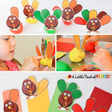 turkey feather count sort playdough free printable