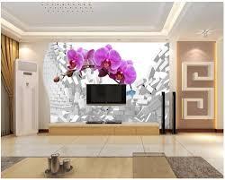 popular orchid wall murals buy cheap orchid wall murals lots from custom 3d photo wallpaper 3d wall murals wallpaper 3 d dream butterfly orchid tv setting wall
