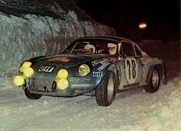 1973 Monte Carlo Rally Andruet Jean Claude Biche Alpine