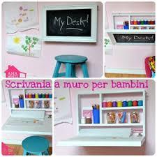 scrivanie per bambini come fare una scrivania a muro per i bambini babygreen