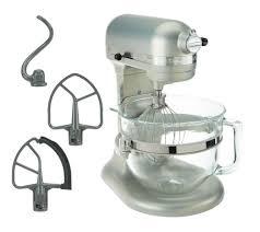 Kitchen Aide Mixer by Kitchenaid 6 Qt 575 Watt Glass Bowl Lift Stand Mixer W Flex Edge