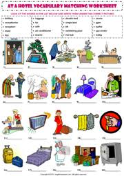 hotel vocabulary esl printable worksheets and exercises