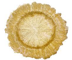 sea sponge glass charger plate gold cv linens