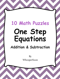 one step equations addition u0026 subtraction math puzzles by