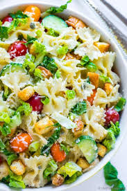 creamy pasta salad recipe caesar pasta salad recipe chefdehome com