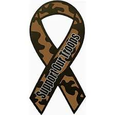 camo ribbon 8 support our troops camo car ribbon magnet
