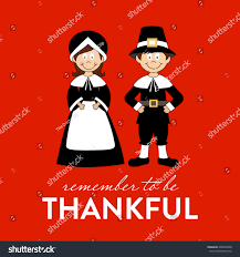 be thankful happy thanksgiving pilgrims stock vector 226862848