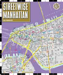 Subway Nyc Map Streetwise Manhattan Map Laminated City Street Map Of Manhattan