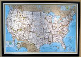 map usa framed framed magnetic us map thempfa org