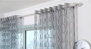Sheer Curtains With Valance Tulle Sheer Curtains For Living Room Light Grey Leaves Window