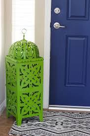 painting your front door the easy way the diy village navy blue interior front door easy pop of color