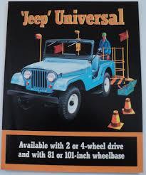 jeep kaiser jeep universal 4wd cj5 cj6 2wd dj5 dj6 sales brochure kaiser