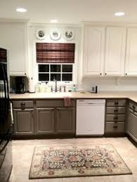 Two Color Kitchen Cabinets Engaging Two Tone Room Colors Image Decor In Kitchen Transitional