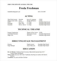 Dancer Resume Sample by Acting Resume Stage