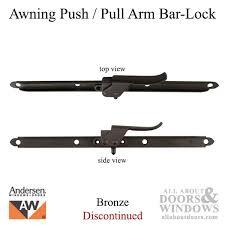 Awning Window Lock Vintage Push Arm Bar Lock Awning Lock Bronze