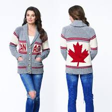 canada sweater cotton country canada cardigan canadian made knitwear