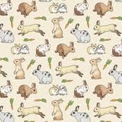 rabbit material rabbit fabric wallpaper gift wrap spoonflower