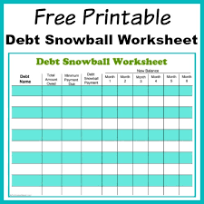 Get Out Of Debt Budget Spreadsheet by Free Printable Debt Snowball Worksheet Pay Your Debt Debt