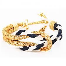 knot bracelet gold images Square knot bracelet gold navy nautical star home jpg