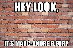 Brick Wall Meme - hey look it s marc andre fleury like talking to a brick wall