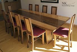 custom wood dining tables custom dining room set by nk woodworking nk woodworking design