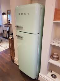 smeg fridge freezer fab30 pastel green in west end london