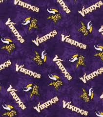 minnesota vikings flannel fabric 42