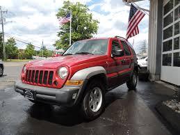 red jeep liberty 2007 jeep liberty shoreline auto sales