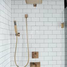 White Subway Shower Backsplash Tiles Design Ideas - Shower backsplash