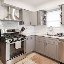 small kitchen grey cabinets 10 paint colors and trends for small kitchens the family