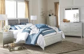 olivet cal king bedroom set silver finish olivet collection