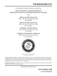 u fouo u s marine corps m16 m4 maintenance manual public