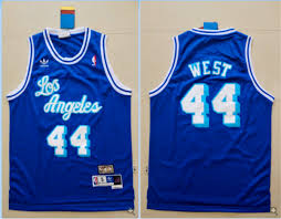 los angeles lakers 44 mitchell and ness swingman jerry west blue