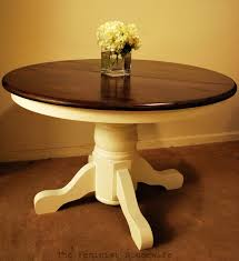 Diy Round End Table by Chalk Painted Kitchen Tables Tips On How I Painted My