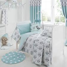 Owl Curtains For Nursery Owls Nursery Bed Linen Collection Dunelm