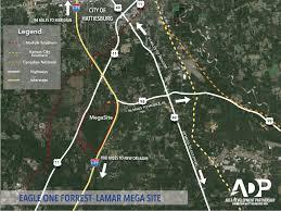 Map Of Hattiesburg Ms Eagle One Mega Site Hattiesburg Area Development Partnership