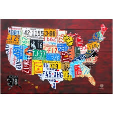 Usa License Plate Map by Koz1 Electronics Computers U0026 Accessories