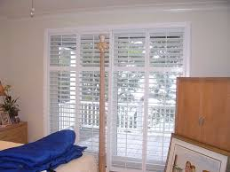 Bypass Shutters For Patio Doors Plantation Shutters For Sliding Patio Doors Bypass Track Glass