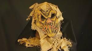 burlap scarecrow halloween latex mask youtube