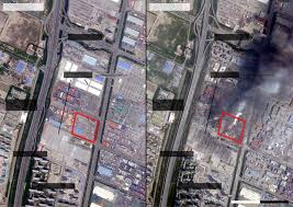 Satellite View Map Satellite Images Reveal Scale Of Deadly Warehouse Explosion In