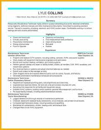 maintenance technician resume industrial maintenance maintenance