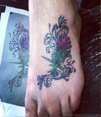 56 adorable alpine thistle flower tattoos