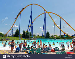 Canada S Wonderland Map by People Water Park Canadas Wonderland Stock Photos U0026 People Water