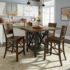 kitchen height table round counter height dining set counter