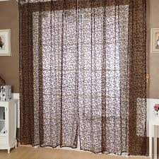 room divider voile window curtain door sheer tulle panel floral