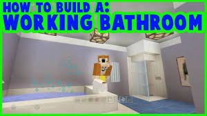Minecraft Bathroom Ideas A Bathroom In Minecraft 13 The New Blocks Are Great For