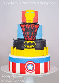 superhero cake fondant iron man spiderman batman captain america