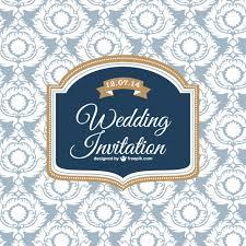 Download Invitation Card Design Wedding Classic Design Invitation Card Vector Free Download