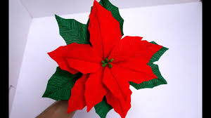 how to make tissue paper flowers look real poinsettia flower