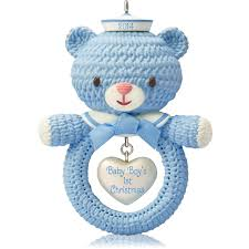 baby keepsake ornaments 1 x baby boy s christmas 2014 hallmark